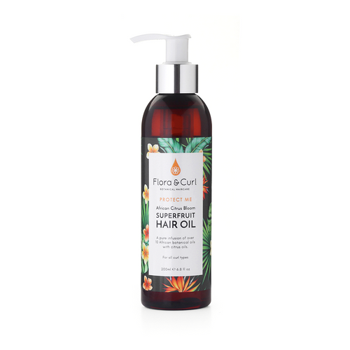 Flora And Curl | African Citrus Bloom | Superfruit Hair Oil (200ml)