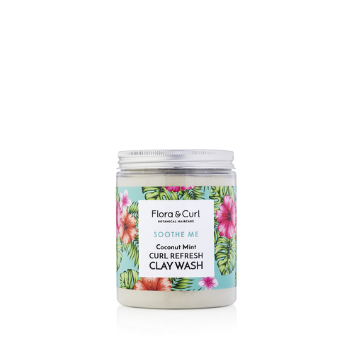 Flora And Curl | Soothe Me | Coconut Mint Curl Refresh Clay Wash