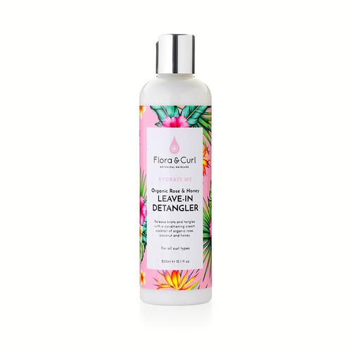 Flora And  Curl | Organic Rose & Honey | Leave-In Detangler (300ml)