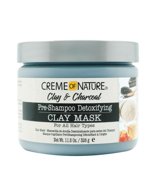 Creme Of Nature | Clay & Charcoal | Pre-Shampoo Detoxifying Clay Mask(11.5oz)