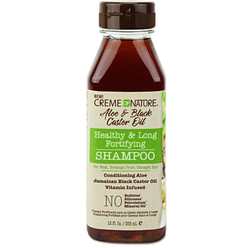 Creme Of Nature | Aloe & Black Castor Oil | Healthy & Long Fortifying Shampoo(12oz)