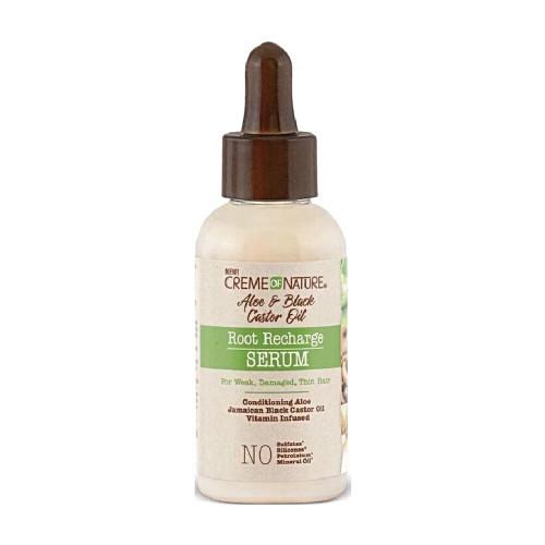 Creme Of Nature   Aloe & Black Castor Oil   Root Recharge Serum(1.7oz)