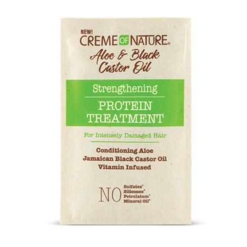 Creme Of Nature | Aloe & Black Castor Oil | Strengthening Protein Treatment(1.5oz)