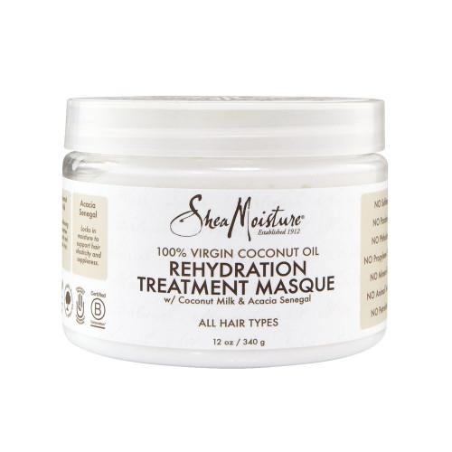 Shea Moisture | 100% Virgin Coconut Oil | Rehydration Treatment Masque(12oz)