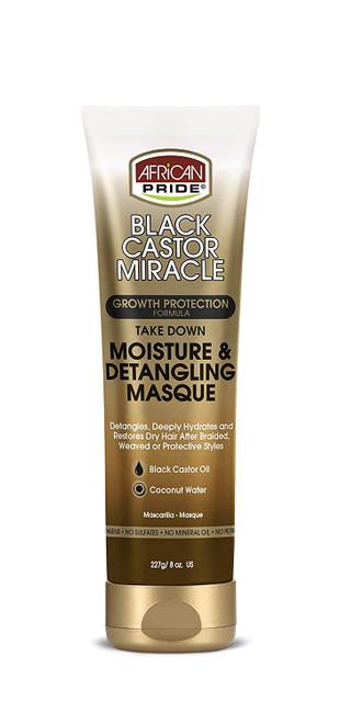 African Pride | Black Castor Miracle | Moisture & Detangling Masque(8oz)