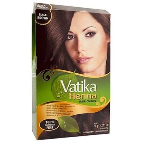 VATIKA HENNA PERMANENT HAIR COLOR BLACK BROWN