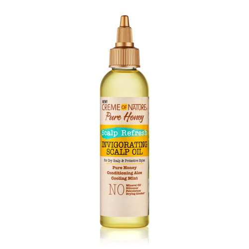 Creme of Nature Pure Honey Scalp Refresh Invigorating Scalp Oil 4 oz.