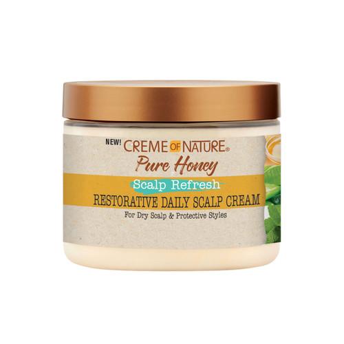 Creme of Nature Pure Honey Scalp Refresh Restorative Daily Scalp Cream 4.7 oz