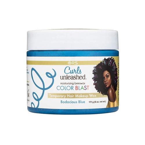 Color Blast Temporary Hair Makeup Wax - Bodacious Blue 171g