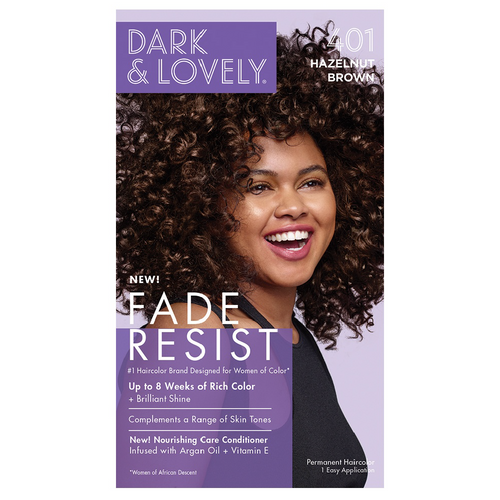 Dark & Lovely Fade Resist Rich Conditioning Permanent Hair Color Hazelnut Brown 401