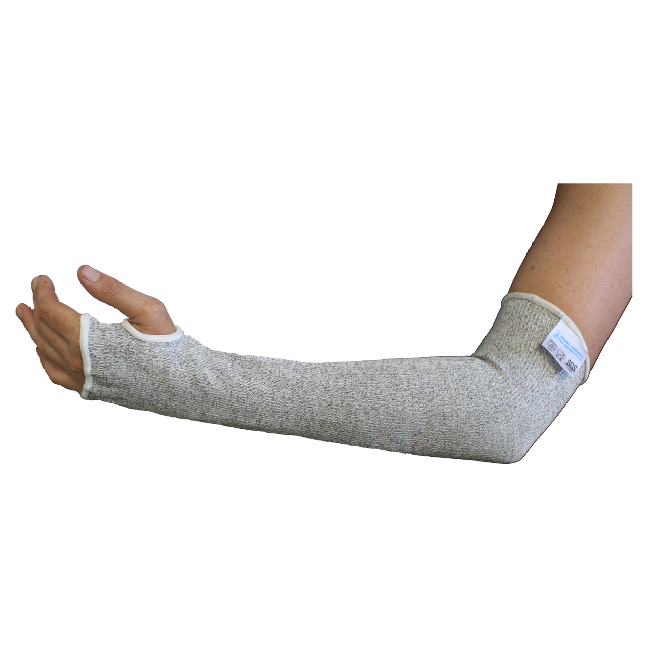 Arm Guard Sleeve Full Arm 45cm With Thumb Hold Food Flex Level 5 Cut Resistant Sleeve Mitchell Engineering Food Equipment