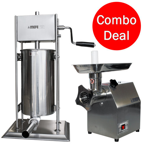 SPECIAL - Electric Meat Mincer & Manual Sausage Filler - 30% off list price