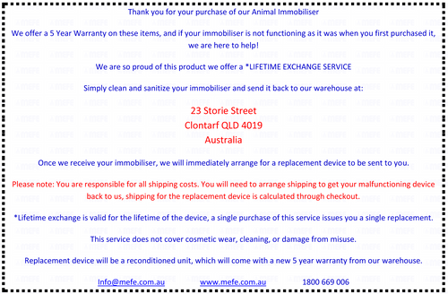Lifetime Exchange Service* CAT 44I & CAT 44IR