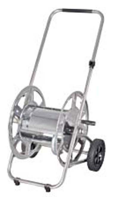 """HOSE TROLLEY  stainless steel for up to 20 m 1/2"""" hose"""