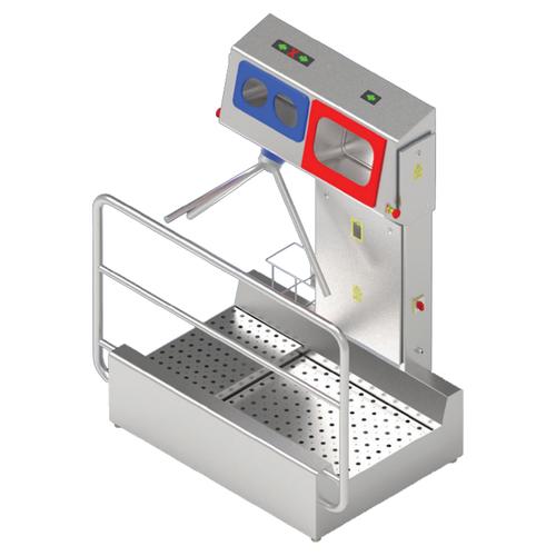 Turnstile Hygiene Station - Boot Sanitise, Hand Wash and Sanitise (Cabinet Mount)