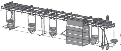 Sheep / Pig Intestine Conveyor 7 tray