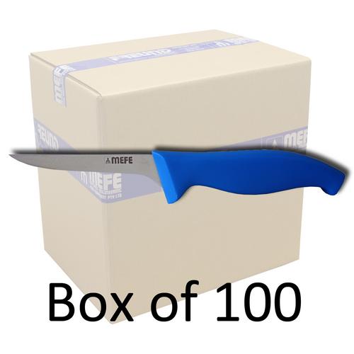 "Box of 100 - 4.5"" Boning Knife - Blue Fibrox Handle"