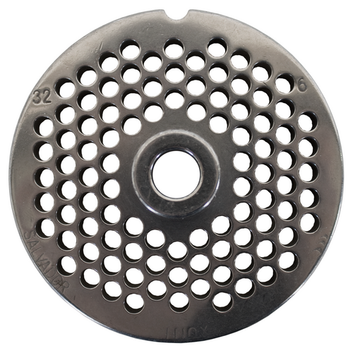 Round Mincer Plate 6mm holes - Part for #32 Mincer