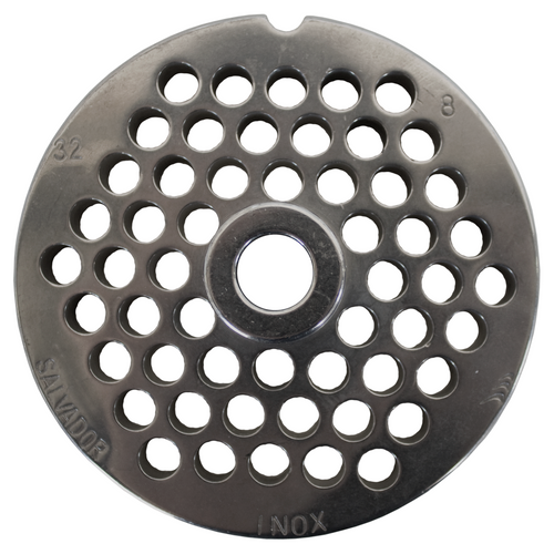 Round Mincer Plate 8mm holes - Part for #32 Mincer