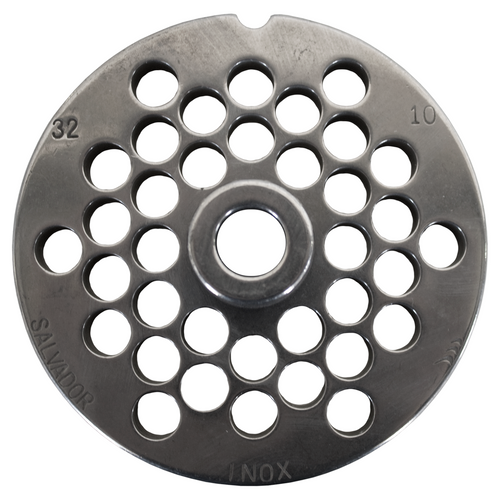 Round Mincer Plate 10mm holes - Part for #32 Mincer