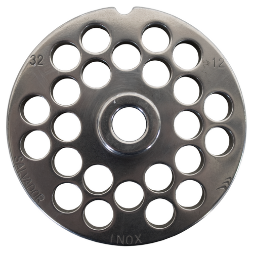 Round Mincer Plate 12mm holes - Part for #32 Mincer