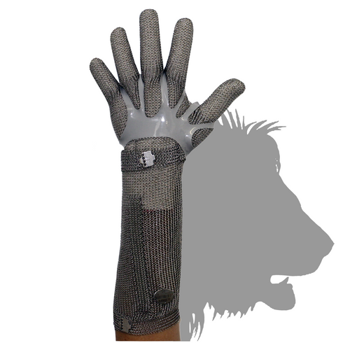Stainless Steel Chain Mesh Glove - Full Hand + 20cm Cuff (Claw Clasp)