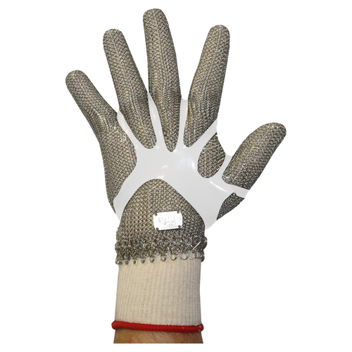 Stainless Steel Chain Mesh Glove - Full Hand (Spring Cuff)
