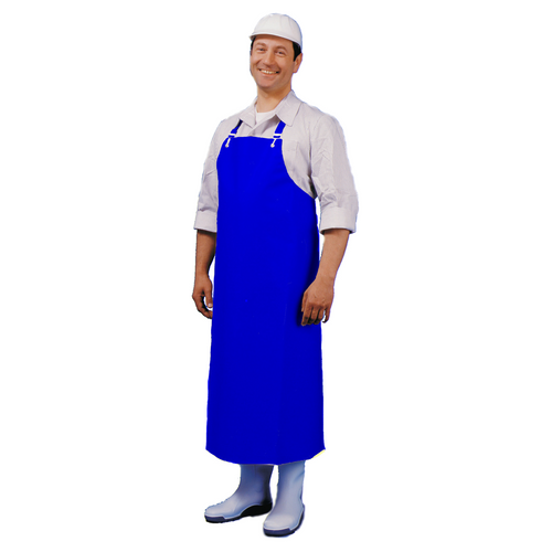 Butcher's Heavy Duty Apron (120cm) XL Blue - Extra Length