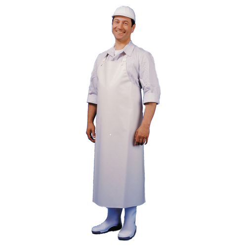Butcher's Heavy Duty Apron (120cm) XL White - Extra Length