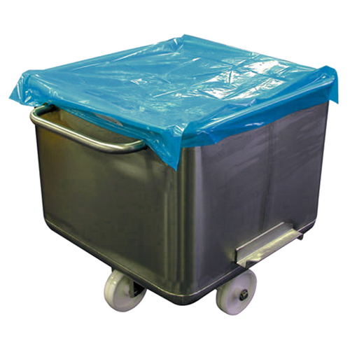 Metal Detectable Disposable Bin Cover for 200L EURO TUB - Blue / Roll  of 250