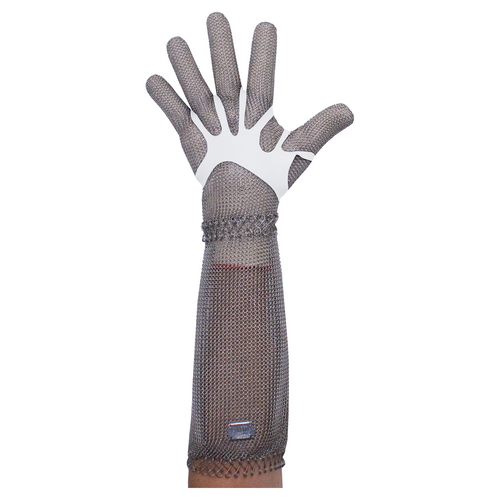 Stainless Steel Chain Mesh Glove - Full Hand + 20cm Cuff (Raptor Spring Cuff)