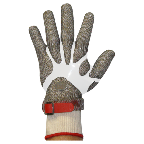 Stainless Steel Chain Mesh Glove - Full Hand (Polyethylene Strap)