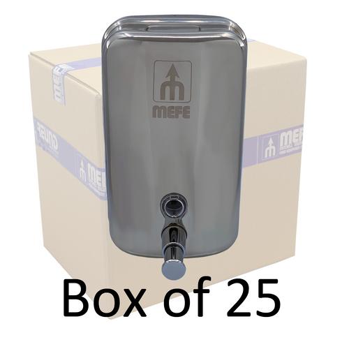 Box of 25 - Stainless Steel Liquid Soap Dispenser