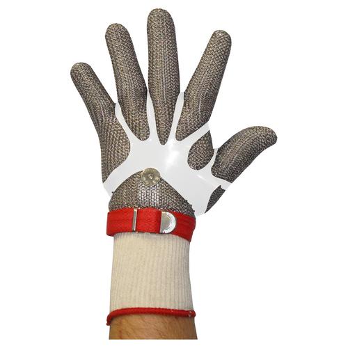 Stainless Steel Chain Mesh Glove - Full Hand (Material Wrist Strap)
