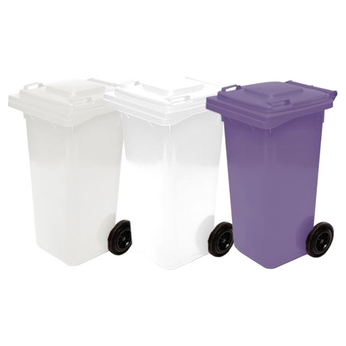 Wheelie Bin 120 Litre Food Grade (Natural, White or Purple)