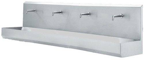 Hand Wash Basin - Wall mounted, 4 station