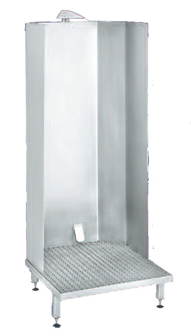 APRON WASH CABINET - with foot valve