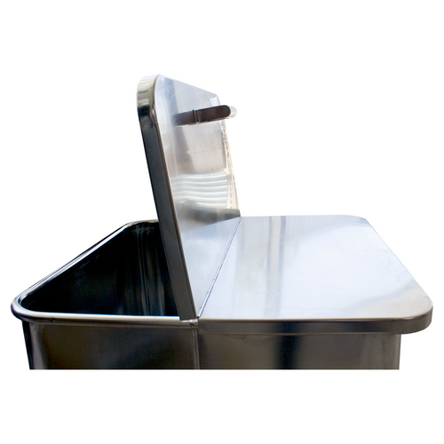 Stainless Steel Split Lid and Handle - for 200L EURO TUB