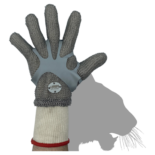 Stainless Steel Chain Mesh Glove - Full Hand (Spring Close)