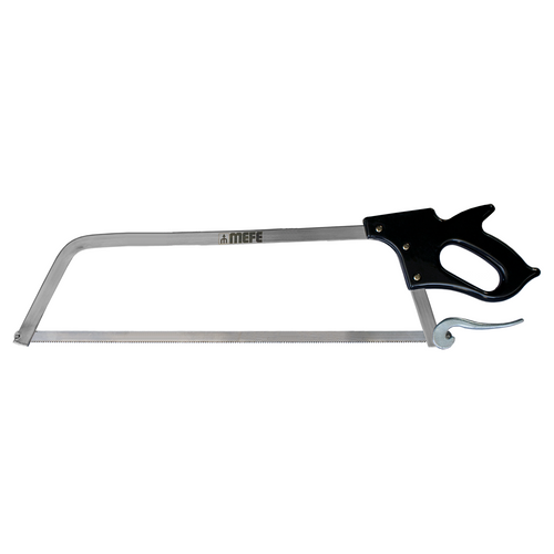 "Butcher Meat Saw 25"" (635mm) Cam Lock - Stainless Steel Frame - Stainless Steel Needle Tip Blade"