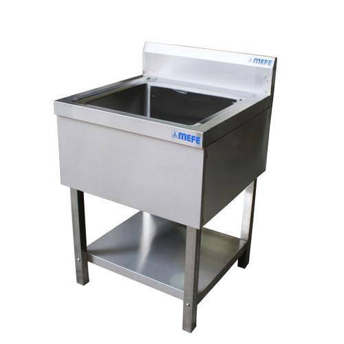 Heavy Duty Wash Trough Stainless steel 600 x 600 x 850