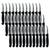 "Box of 36 - 2.5""/6cm Fruit Knife - Black PP Handle"