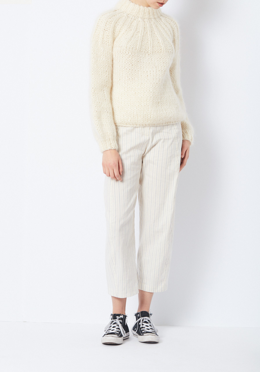66f782fb821 Ganni Cream Julliard Mohair Sweater - LE POINT