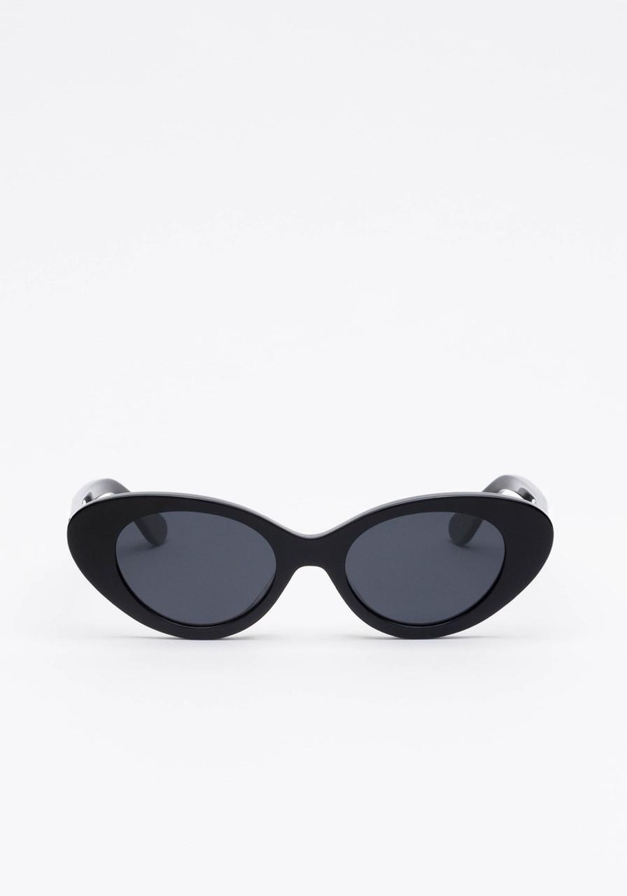 Mars Black Skinny Cat Eyed Pilot Sunglasses 13fa58dbfaa