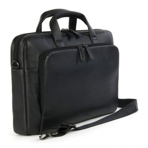 "Tucano 'One' Premium Leather Slim Bag for 15"" MacBook Pro & Ultrabooks - Black"