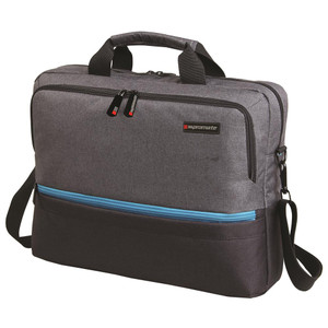 "Promate 'Ascend' Accented 15.6"" Laptop Messenger Bag - Grey"