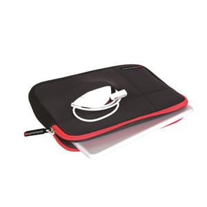"Promate 'Zipper-S' Ultra-Sleek Lightweight Sleeve for Laptops up to 12"" - Black"