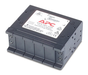 APC CHASSIS, 1U, 4 CHANNELS, FOR REPLACEABLE DATA LINE SURGE PROTECTION