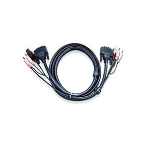 Aten 5m Dual Link DVI KVM Cable with Audio to suit CS178xA, CS164x
