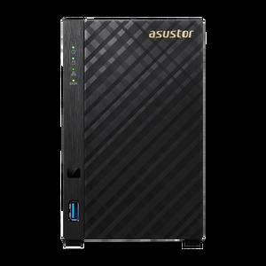 ASUSTOR AS3102T 2-Bay NAS, Dual-Core, 2GB DDR3L, GbE, USB 3.0, HDMI, WoL, AES-NI